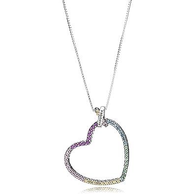 Pandora Women Silver Pendant Necklace - 397070NRPMX-60 8L4PmtVVJ5