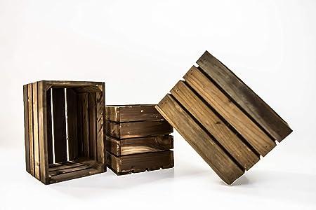 Set de 3 Cajas de Fruta Sam, Cajas de Fruta, Madera, Marrón, 30x20x20cm, 3 Unidades. Incluye Imán de Regalo Personalizable. …: Amazon.es: Hogar