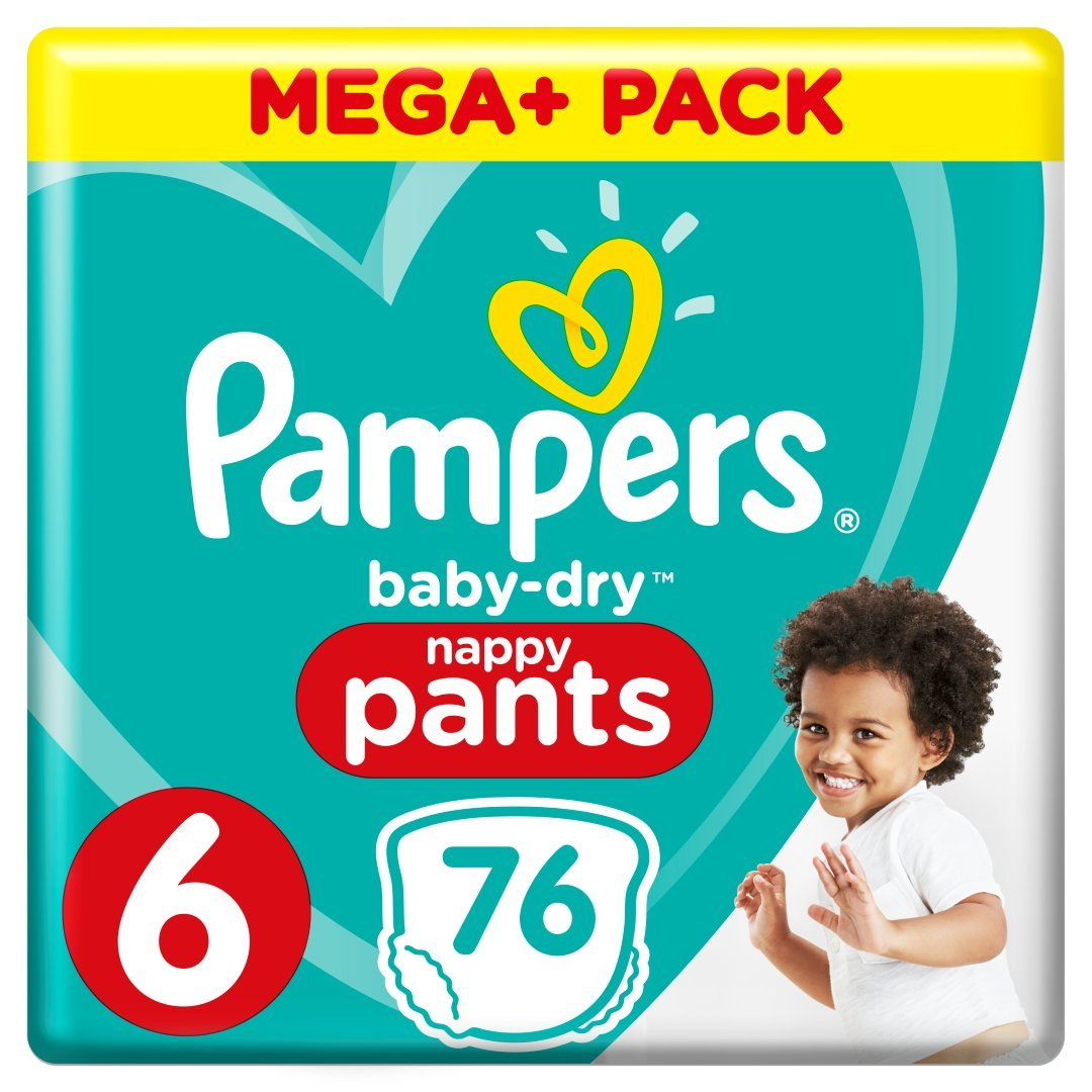 Pampers Baby Dry Pants Gr.4 Maxi 9-15kg Mega Plus Pack 8001090706850