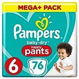 Pampers Baby-Dry Pants (Gr. 6 (ab 15 kg), Windeln mit Luftkanälen) 1er Pack (76 Stück)