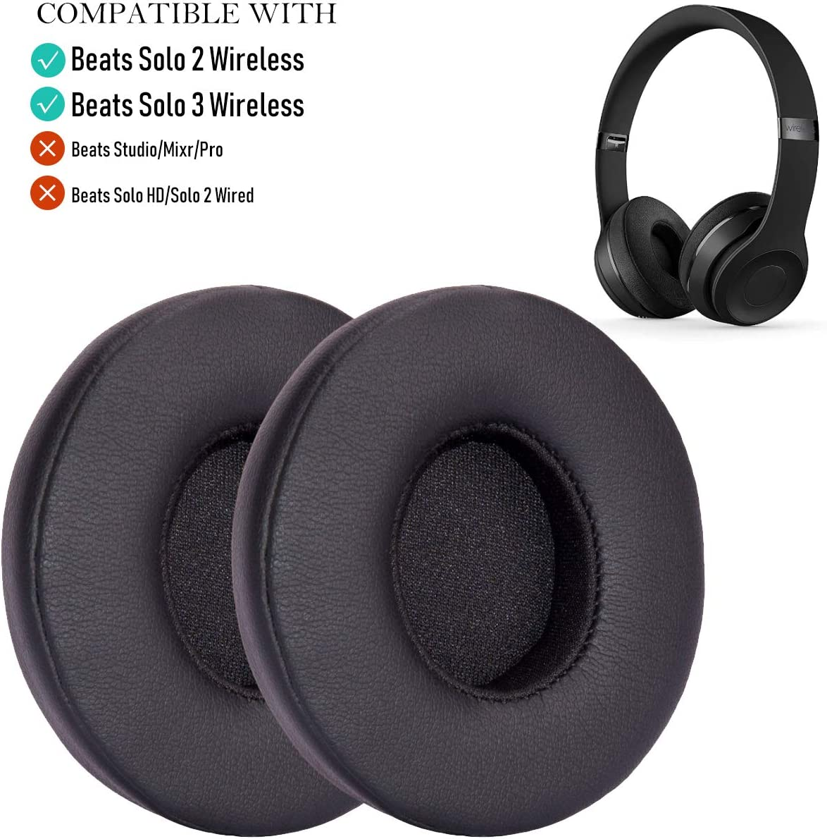Amazon Com Oriolus Earpad Replacement For Beats Solo 3 2 Wireless On Ear Headphone Memory Foam Ear Cushion Cover Black Home Audio Theater