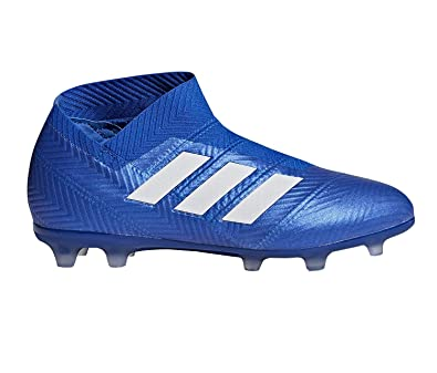 e7a2f31253ff adidas Nemeziz 18+ FG Cleat - Junior s Soccer 4 Football Blue White