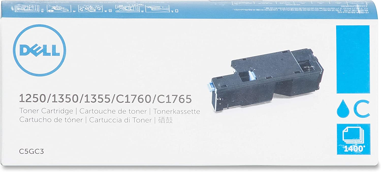 Dell C5GC3 Toner Cartridge f/1250 1400 Page Yield CYN