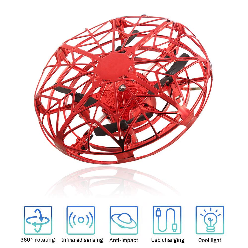 SUNNYPIG Flying Ball for Boys, Remote Control Helicopter Toy for 4-13 Year Old Boy Kids UFO Flying Toy Gift for 7-11 Year Old Boys Girls Birthday Gift for Boys Age 5-10 by SUNNYPIG