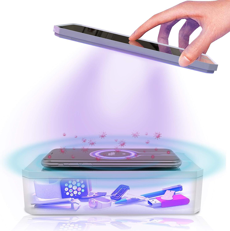 PHONETIZED Multifunctional UV-C Sanitizer | UV Phone Sanitizer & Wireless Charger | Portable UV Wand Sanitizer