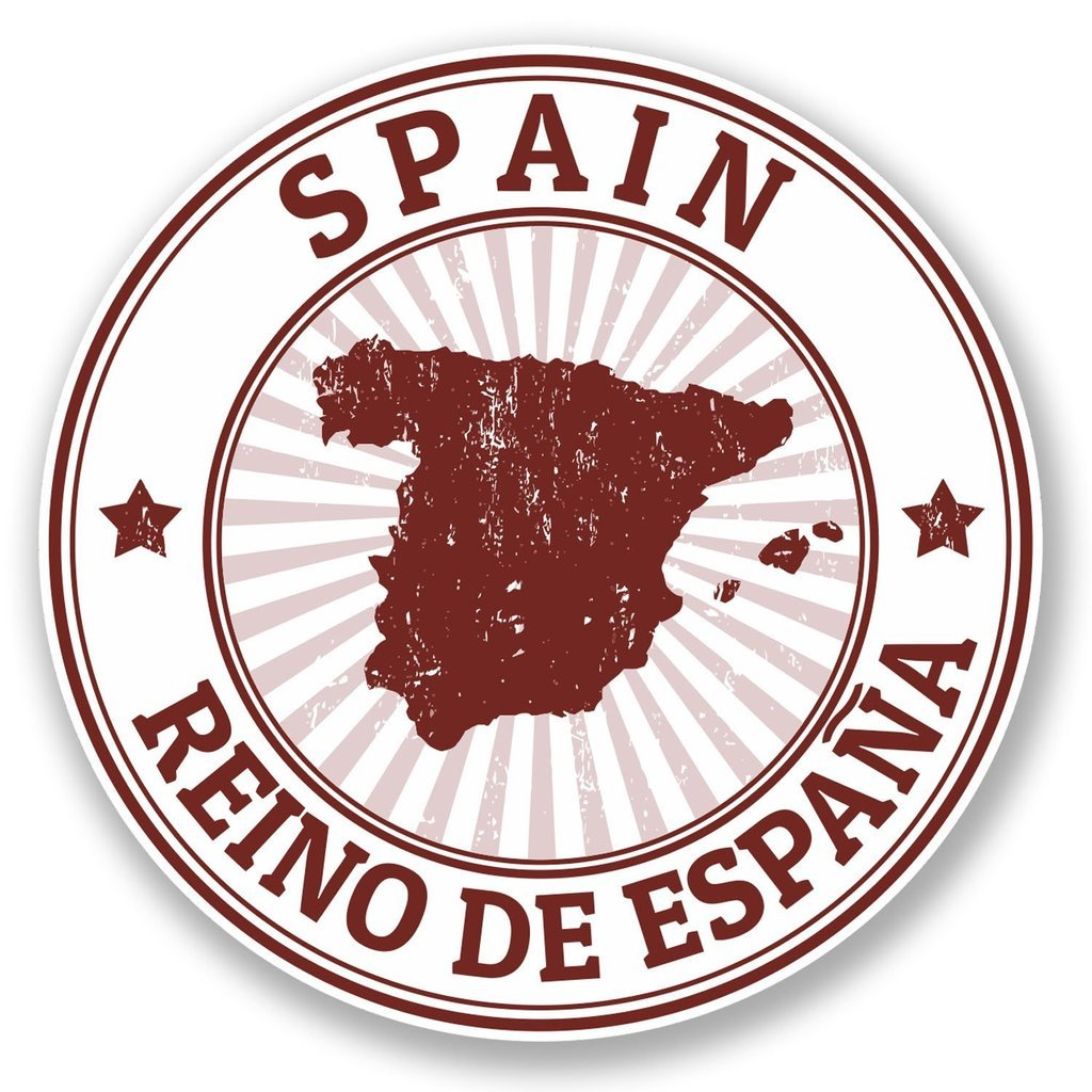 2 x Spain Vinyl Sticker Laptop Travel Luggage #4508
