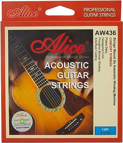Alice cuerdas para guitarra acústica con revestimiento ...