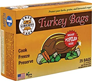 "True Liberty Bags- Turkey 25 Pack- All Purpose Home and Garden Bags- 18"" x 20"" - Clear"