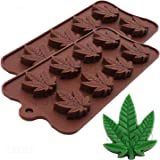 Moldes de silicona de marihuana y marihuana con hojas de cáñamo, 2 unidades