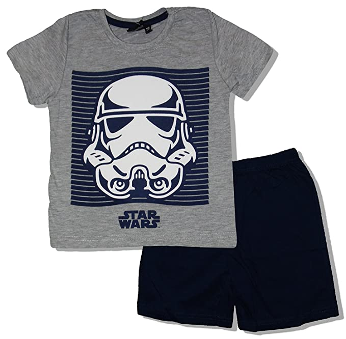Star Wars Official Licensed Kids Summer Pajamas (Grey, 9 Years(134 cm)