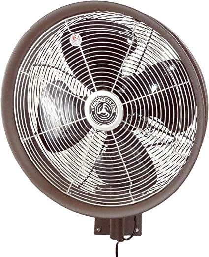 Hydromist F10-14-022 Outdoor Fan, 18 Inch, Dark Brown