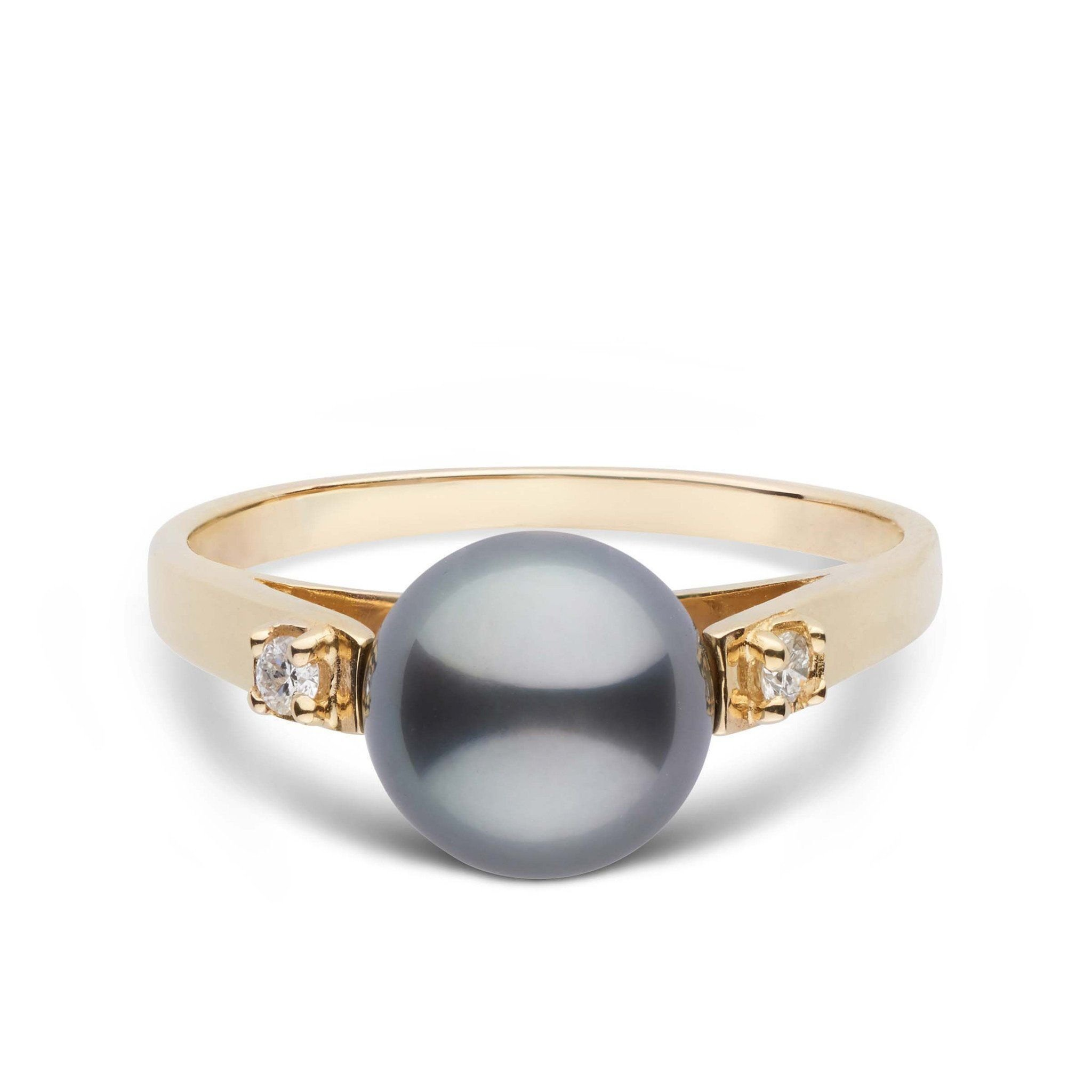 Promise Collection Tahitian Cultured Pearl Ring - 14K Yellow Gold - Ring Size 5