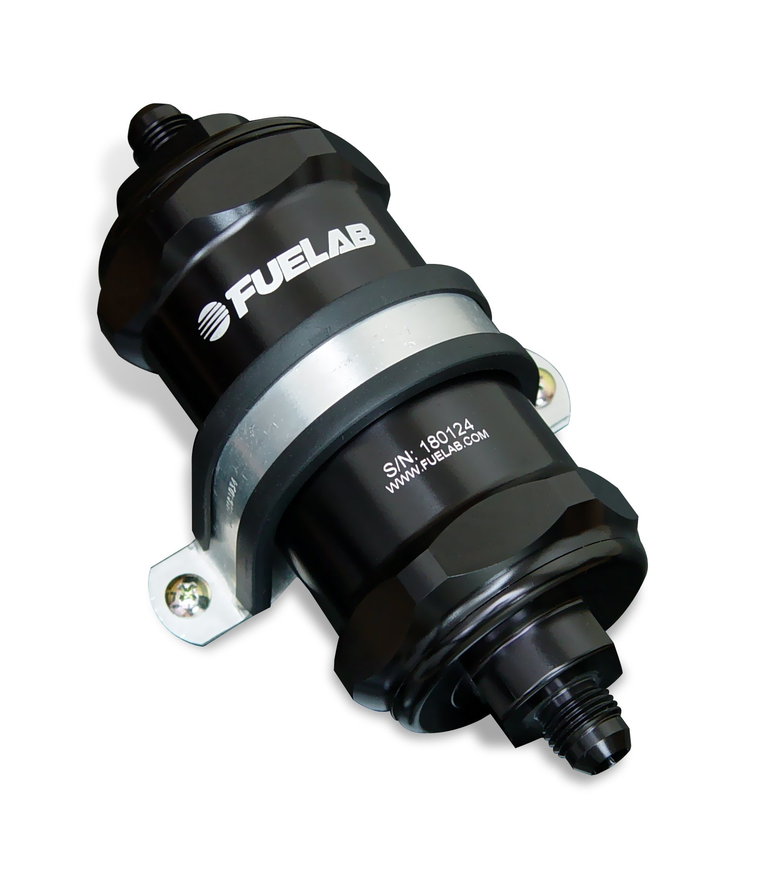 Fuelab 81803-1 Black 10 Micron Standard Length In-Line Fuel Filter