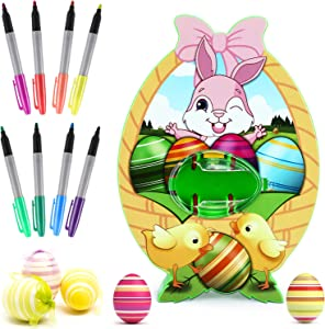 Easter Egg Decorations kit,Easter Egg Spinner,Egg Decorator Machine with 8 Colorful Quick Drying Markers