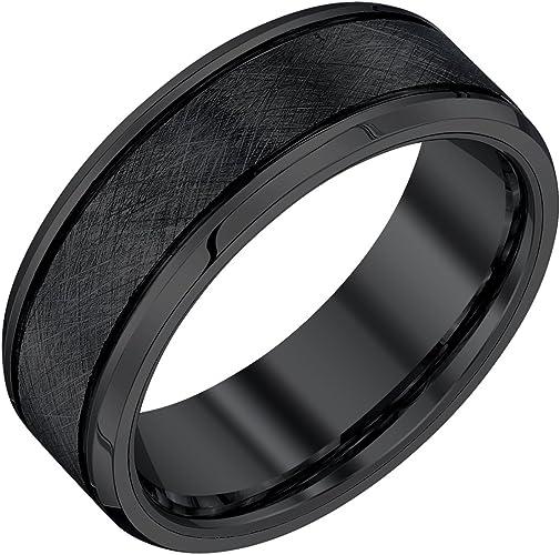 Size 12.5 Titanium Jay Seiler Titanium Black Enameled 8mm Polished Band