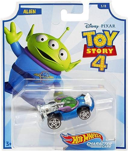 Amazon Com 2019 Hot Wheels Character Cars Toy Story 4 Alien Toys