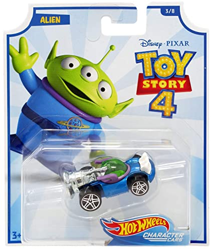 Amazon Com 2019 Hot Wheels Character Cars Toy Story 4 Alien Toys