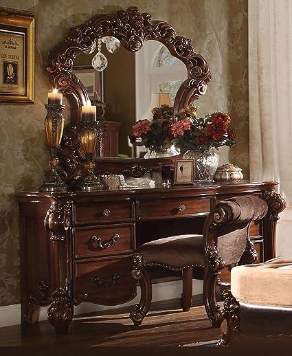 Amazon Com 1perfectchoice Vendome Bedroom Luxury Vanity Table