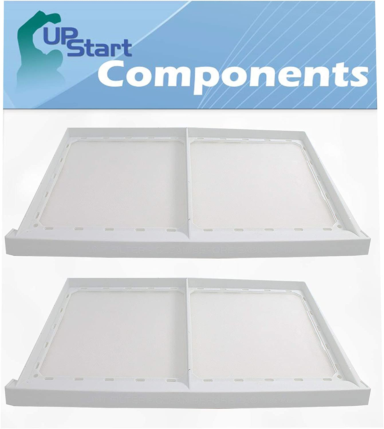 Compatible with 131450300 Lint Screen Trap Catcher 2-Pack 131450300 Dryer Lint Filter Replacement for Kenmore//Sears 417.84152500