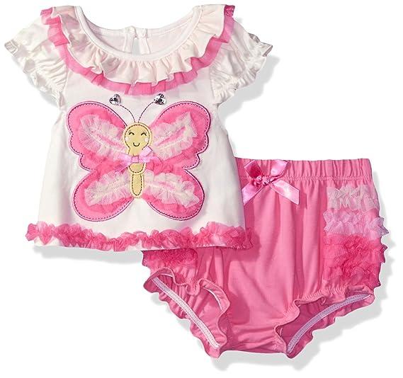 23446c8fcbc1 Amazon.com  Nannette Baby Girls  Dressy Shirt Detail and Ruffle ...