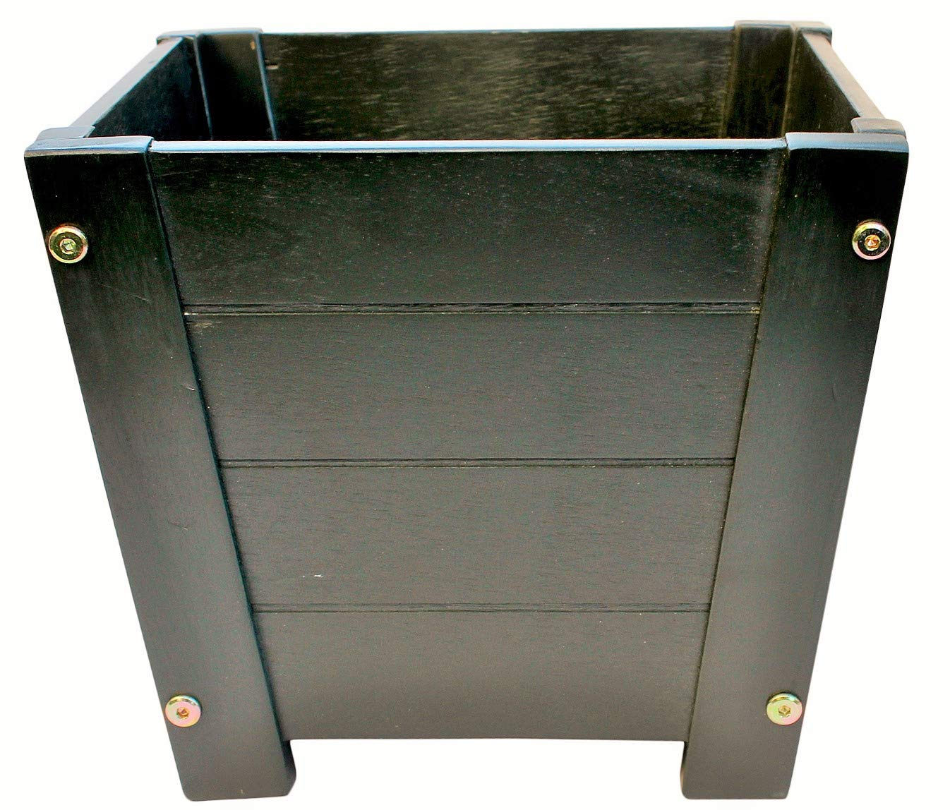 Happy Planter HP304XXL Wood Barrel Outdoor Planter, Set of 3 Planters,  Color: Solid Hunter Green