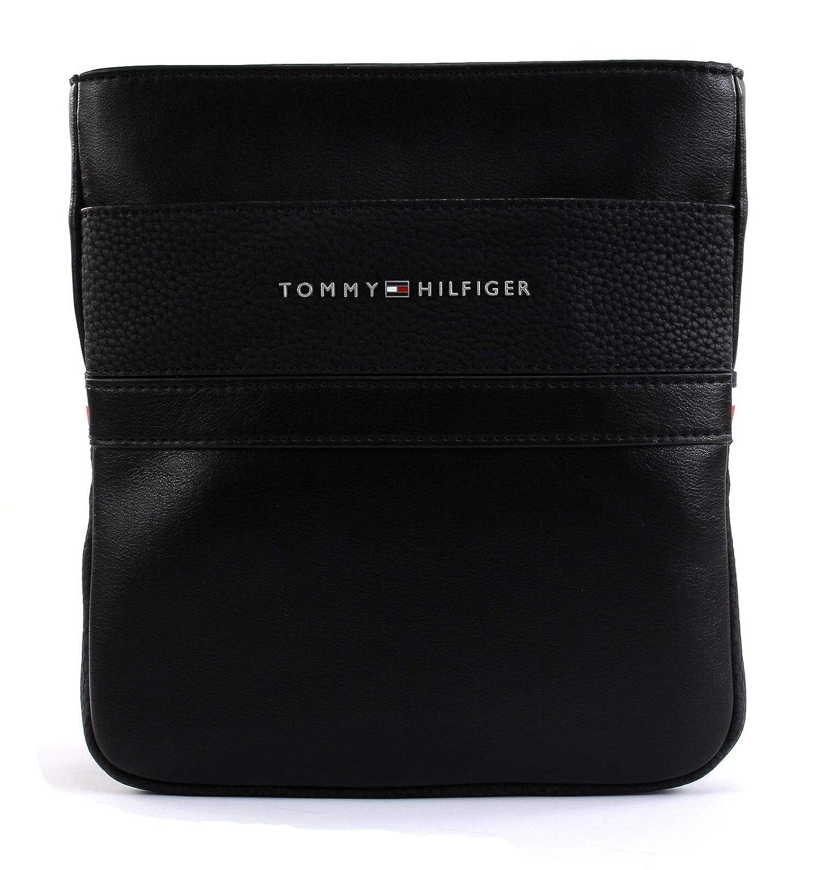 Tommy Hilfiger Th Business Mini Crossover, Sacs porté s é paule homme, Noir (Black), 1x23x21 cm (B x H T) Sacs portés épaule homme AM0AM04255