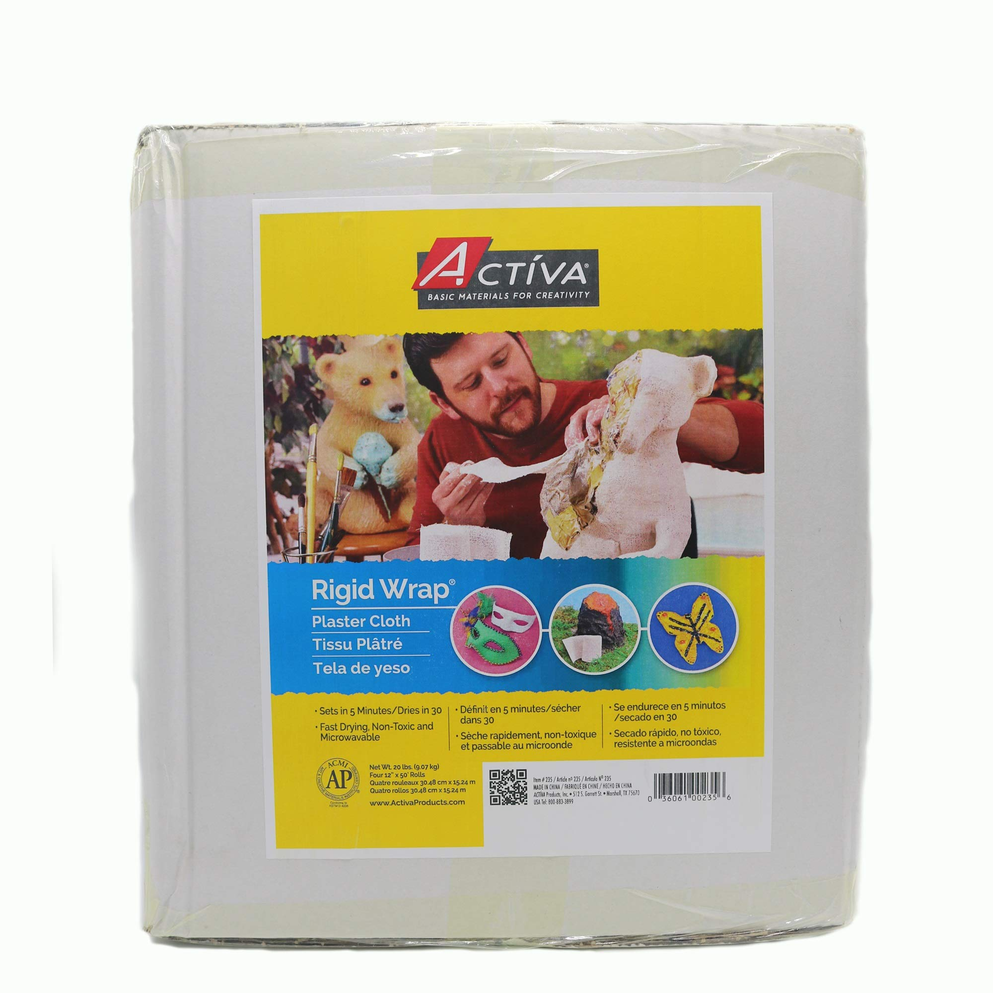 Activa Products Rigid Wrap Plaster Cloth for Arts and Crafts, 20-Pound by Activa Products (Image #1)
