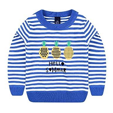 d0d5e4475 Amazon.com  Tyler Morrison Kids Sweaters Boys O-Neck Striped Sweater ...