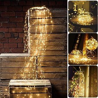 """LED /""""Wasserfall/"""" warmweiß Lichterbündel Außenbeleuchtung Weihnachten Dekoration"""