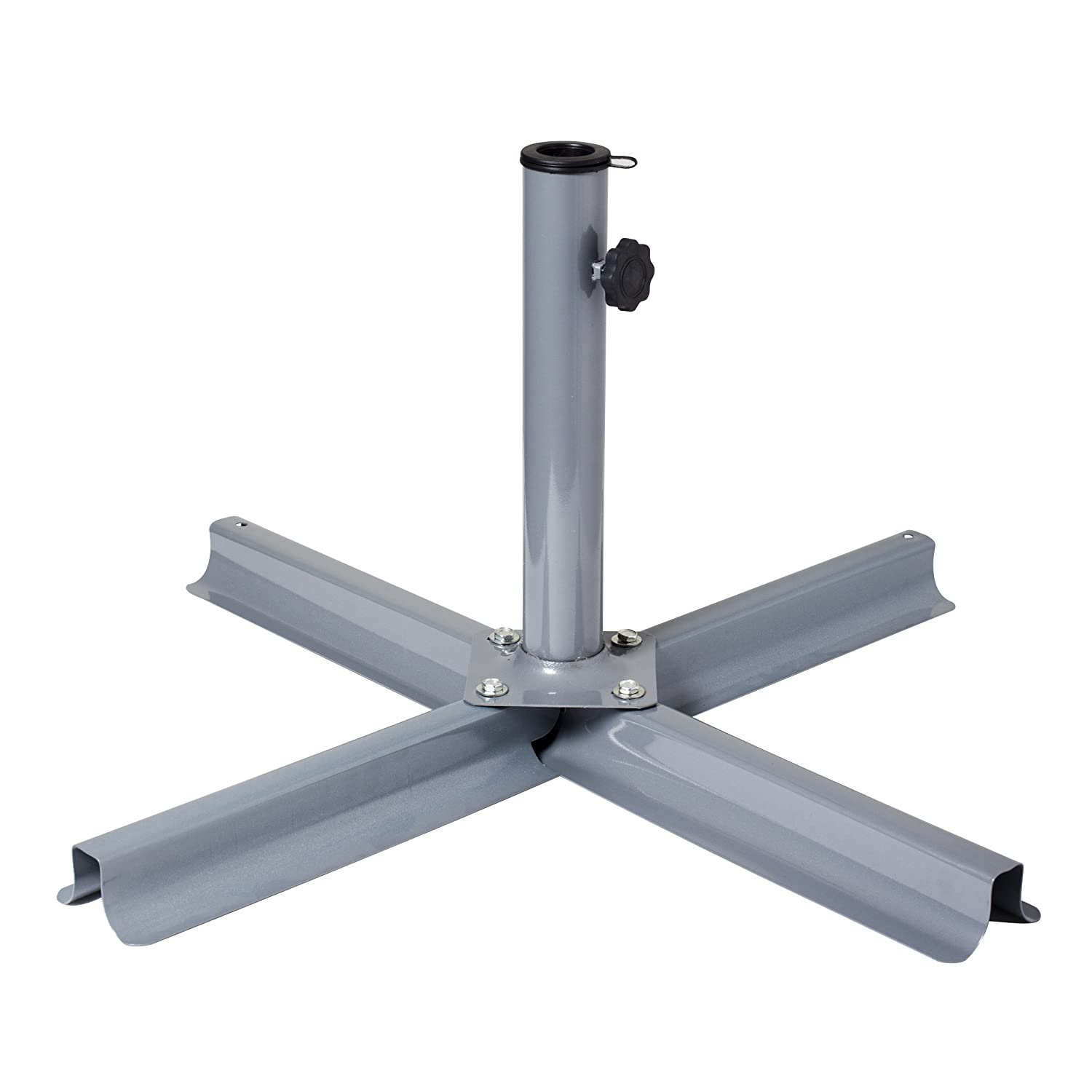 Amazon.com : CorLiving PPU 900 U Patio Umbrella Stand, Grey : Garden U0026  Outdoor