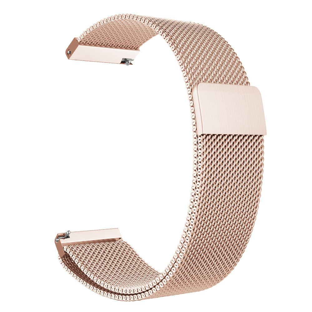 18mm Watch Band Baoking Magnetic Clasp Adjustable Milanese loop Mesh Stainless Steel Metal Replacement Strap Bracelet For Smart Watch Huawei/Fossil Q/Withings (Rose Gold,18mm) by Baoking