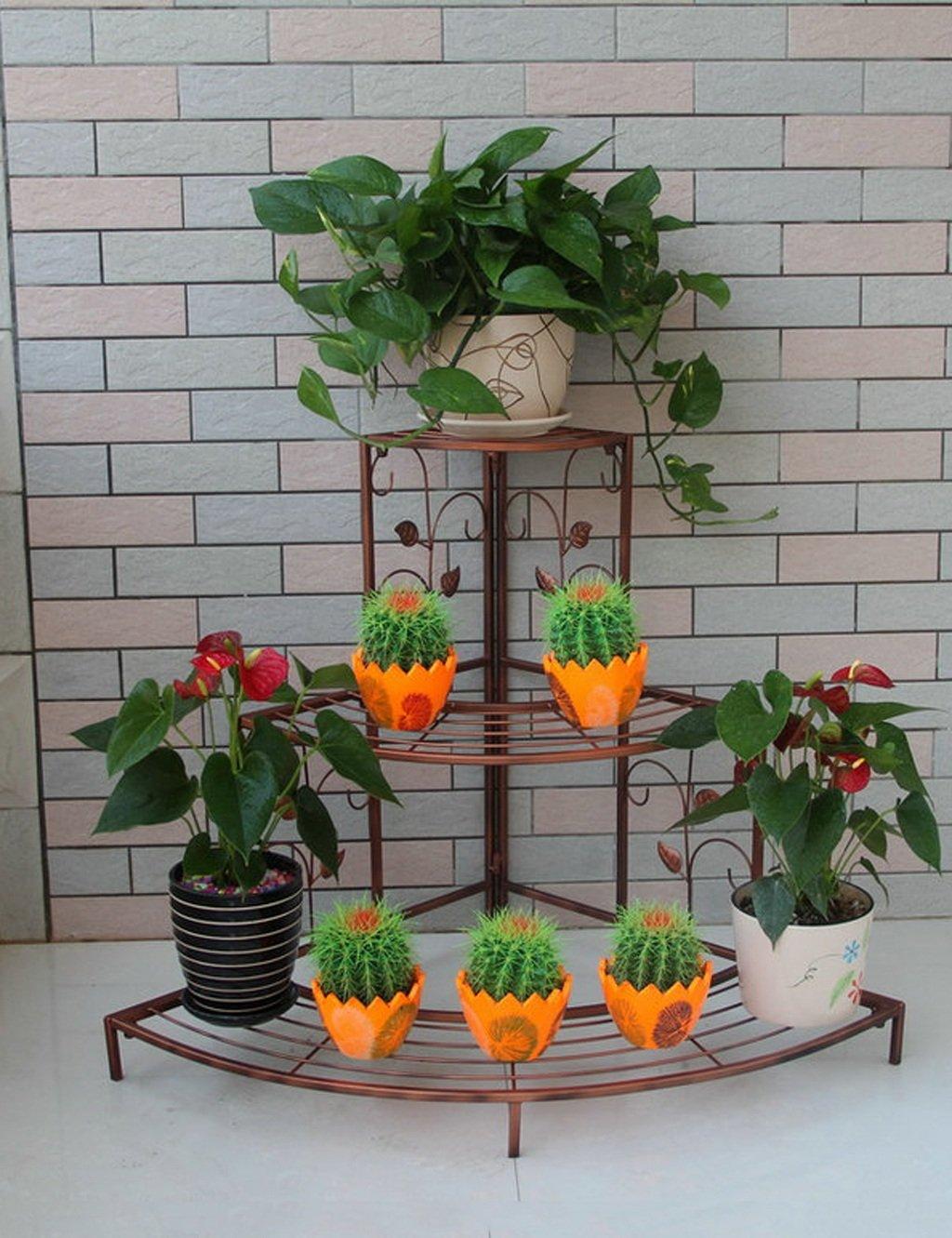 LB huajia ZHANWEI European-Style Eisen-Blumen-Zahnstange, Fußboden-Leiter Mehrgeschossiges Ecken-Blumen-Zahnstange, Im Freienbalkone-Eckgarten-Pastellgestell (Farbe : A1-106 * 85cm)