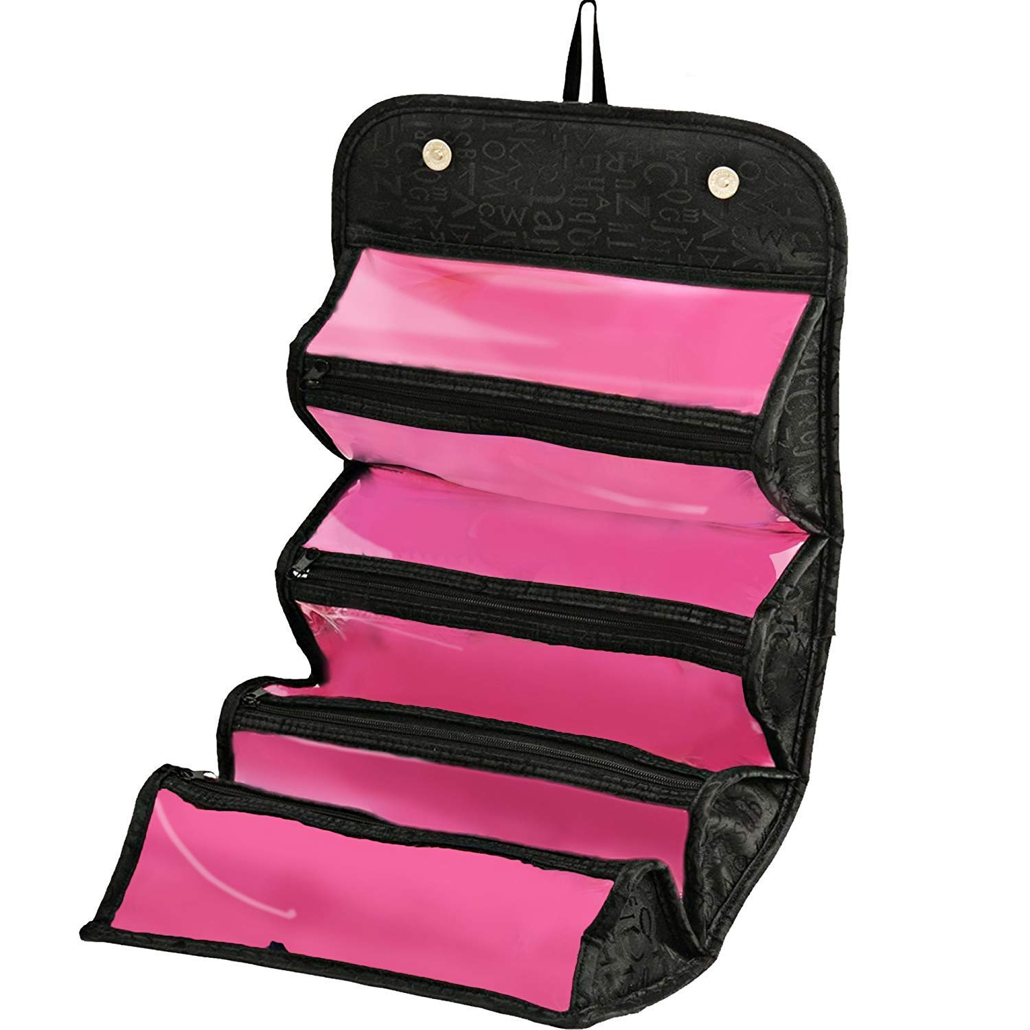 Roll Up Travel Cosmetic Makeup Jewelry Toiletry Bag Organizer Camping Accessories Holder