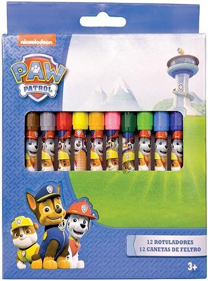 12 rotuladores Patrulla canina Paw Patrol, Para dibujar, colorear ...