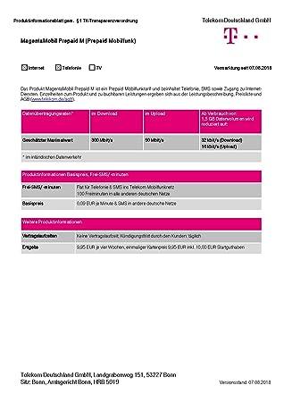 Sim Karte Telekom.Magenta Mobil Start M Xtra Karte Telekom 10 Euro Guthaben Prepaid Handy Sim T Mobile Zum Selber Registrieren