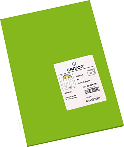 Canson Iris - Cartulina, 50 Unidades, Color Verde Billar: Amazon ...