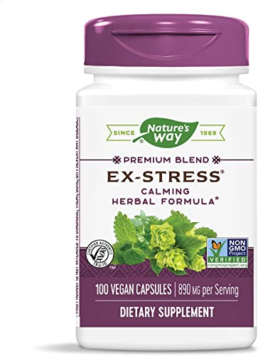 Nature s Way Ex-Stress Calming Formula, 890 mg per serving, 100 Capsules