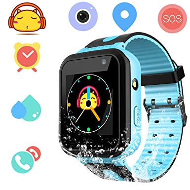 Kids Waterproof Smartwatch with GPS Tracker - Boys & Girls IP67 Waterproof  Smart Watch Phone with Camera Games Sports Watches Supplies Grade Student
