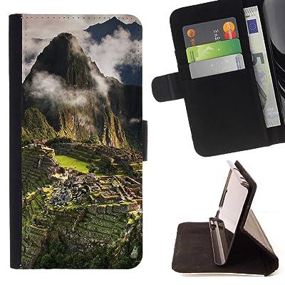 FJCases Machu Picchu Perú Las Siete Maravillas del Mundo Carcasa Funda Billetera con Ranuras para Tarjetas y Soporte Plegable para HTC U11