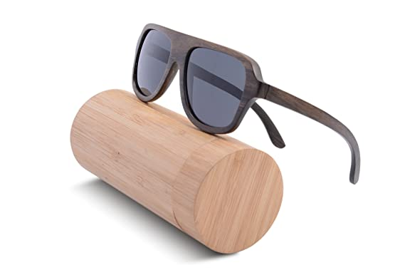 52f56632c30 Wooden Sunglasses Oversized Retro Eyeglasses Wood Frame Polarized with  Case- Z6043(CHACATE PRETO