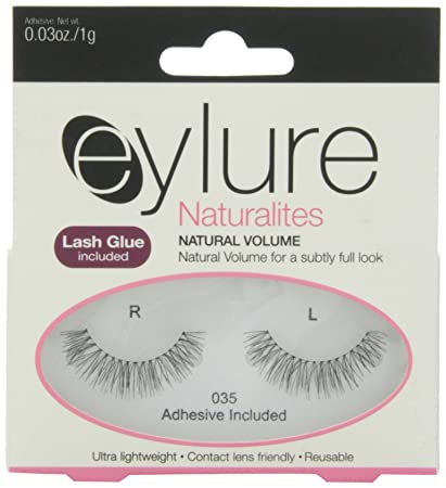 3d19e7fc2b8 Amazon.com : Eylure Naturalites Natural Volume Lashes, 035, 18.14 Gram :  Fake Eyelashes And Adhesives : Beauty