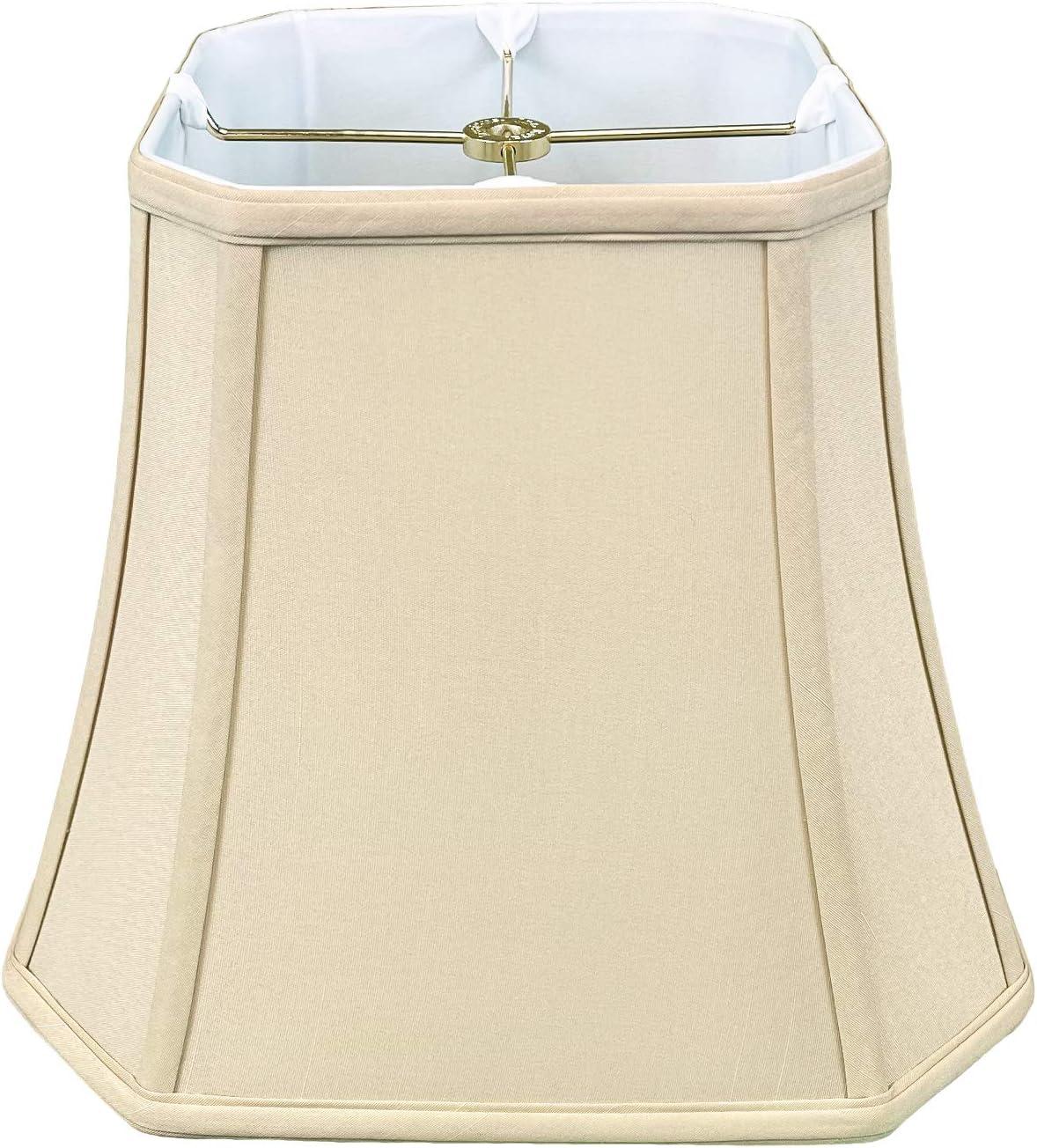 Royal Designs, Inc BSO-705-12BG Square Cut Corner Bell Lamp Shade, BSO-705, Beige