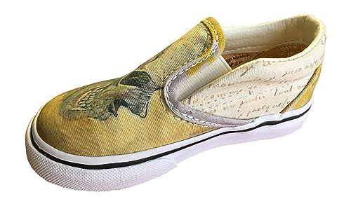 2d16f0dc1256 Vans Toddler Gogh Slip-On Skull True White Shoes (Toddler) (5