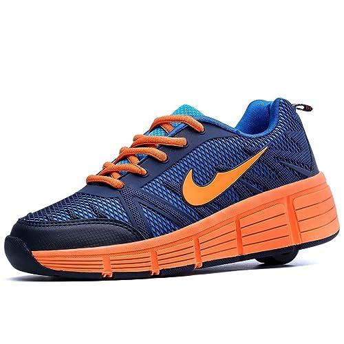 Zapatillas con Ruedas automáticas para niños. Negro - Naranja.: Amazon.es: Zapatos y complementos