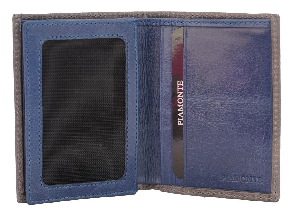 PIAMONTE, 1028 classics, cartera gris y azul con goma roja: Amazon.es: Equipaje
