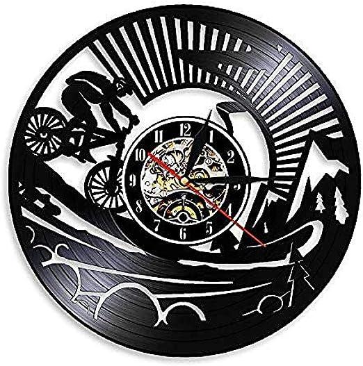 TPFEI Reloj de Pared de Vinilo de Bicicleta de montaña Reloj de ...