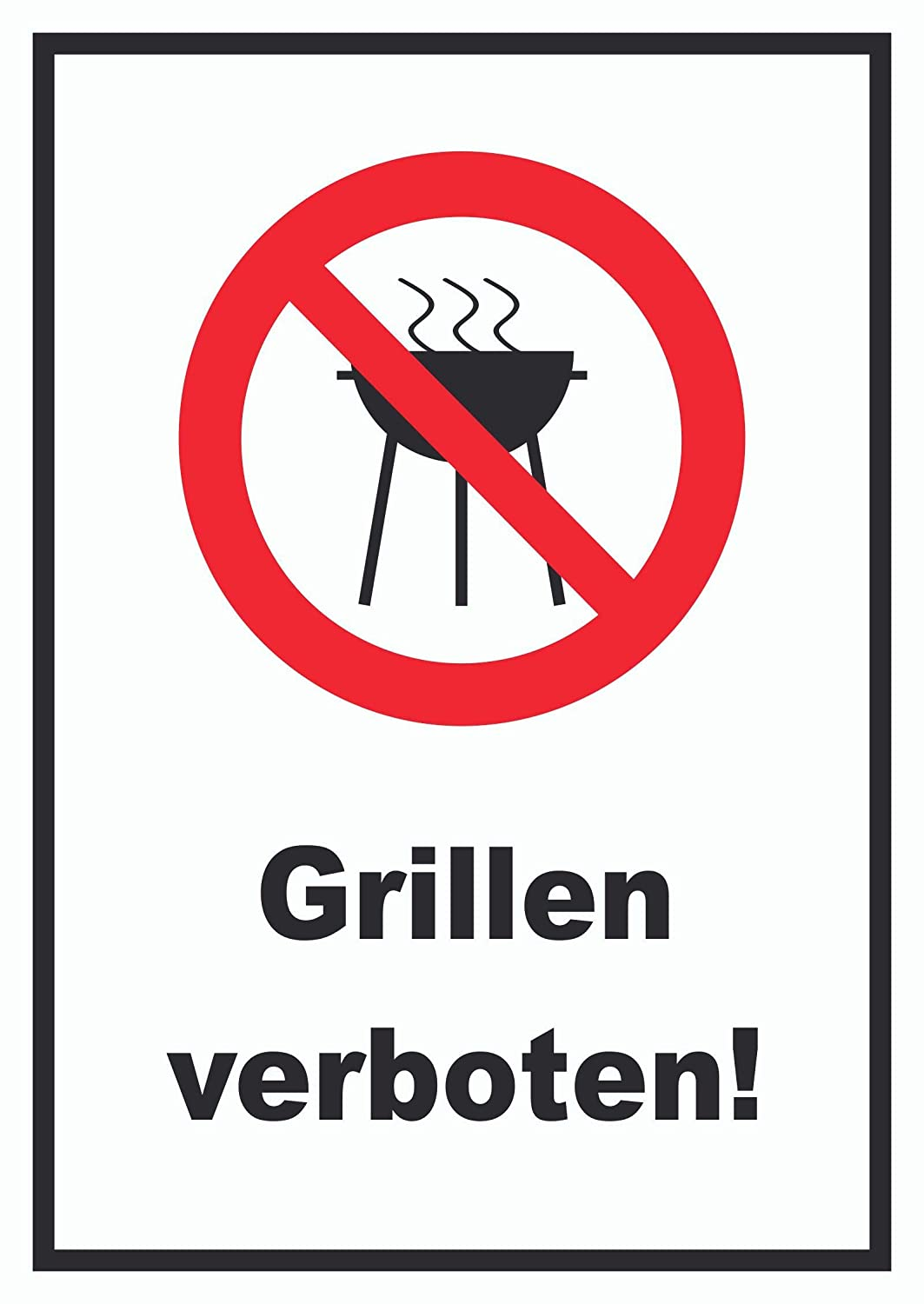 HB_Druck Parrilla prohibido Placa - A2 (420x594mm): Amazon ...
