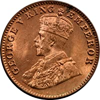 eShoptail - QUARTER ANNA INDIA, ¼ Anna - George V, 1912-1936, 100% Original Commemorative Rare Coin, Extreme Fine (XF) Condition, Metal Bronze, Diameter 26 mm, Shape Round, 1 Piece, Weight 4.85 Grams.