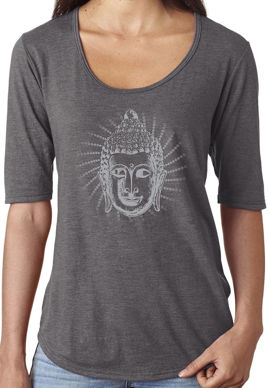 Yoga Clothing For You Ladies Iconic Buddha Scoop Neck Tee Shirt