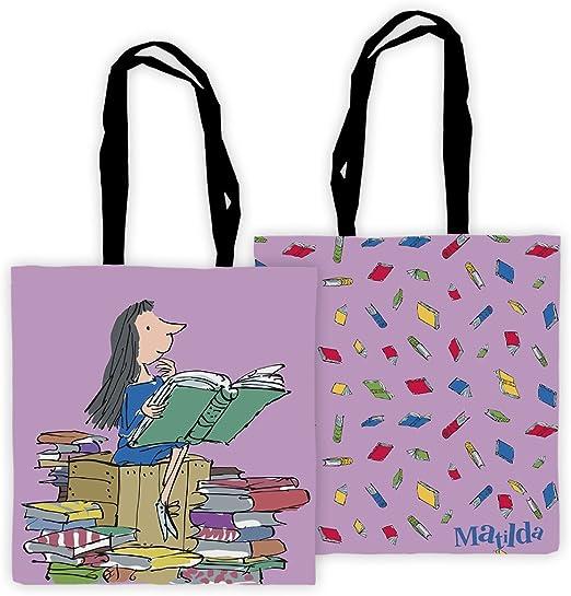 Roald Dahl Matilda - Bolso para Libros de Lectura (40 x 39 x 1 cm, algodón), Multicolor: Amazon.es: Hogar